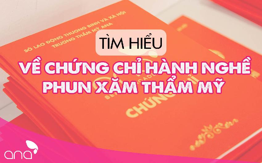 Chứng chỉ Phun Xăm